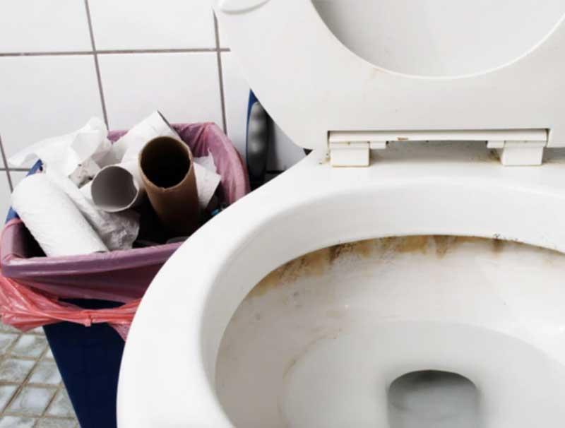 Schimmel in Toiletten